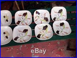 10 pc set vintage Red Wing Lotus bowls, saucers, relish dishes, B&B plates etc