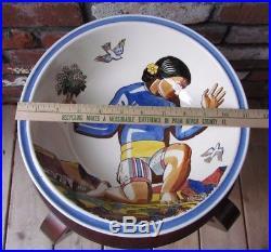 11 Rare Bowl Vernon Kilns Salamina by Rockwell Kent Large Vintage Gorgeous