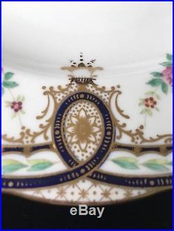 (11) Vintage WEDGWOOD 9.625 Floral RIMMED SOUP BOWLS #X5304