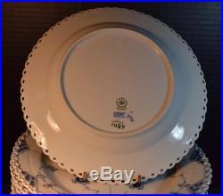 13 Vintage Royal Copenhagen Blue and White Fluted Full Lace Soup Bowls