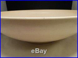 15 5/8 Vintage GAINEY Ceramic Pottery Mid-century Modern Bowl Planter Matte