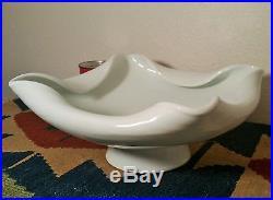 2 IKEBANA japanese celadon flower pot vase bowl vtg art asian pottery porcelain