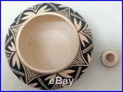 2 Vintage pottery BOWL Native American Pauline Abeita Acoma Pueblo
