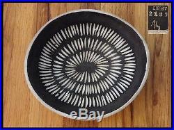 #2 Vtg 50s INGRID ATTERBERG Upsala Ekeby Sweden NEGRO Pottery Ceramic Bowl Dish