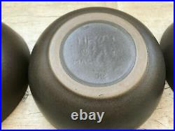 3 Heath Ceramics Vintage Coupe Bowls 6.5 Brown Beachstone Mid Century Pottery