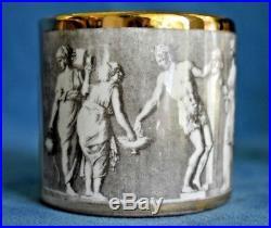 3 PC Vintage Mid Century Piero FORNESETTI Mythology Lighter Jar Bowl Smoking Set