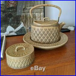 3 pcs Jens Quistgaard Relief Vintage Teapot & Sugar Bowl & Large Plate Danish