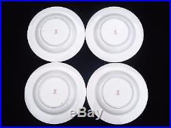 4 Vintage Royal Crown Derby Traditional Imari 9 1/8 Rim Soup Bowls #2451