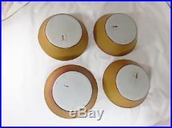 4 Vtg Bennington Potters Pottery Tawny Mustard Bowl 9 1/4 no chips! David Gil