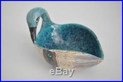 5 Bitossi Raymor Londi Vtg Mid Century Modern Pottery Swan Bird Bowl Italy