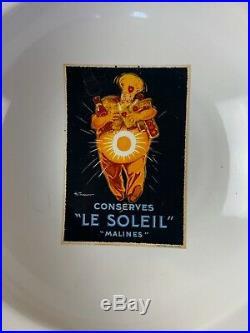 5 Piece Pottery Barn Vintage Posters Pasta Set Serving Bowl & Individual Bowls