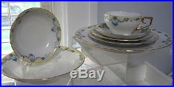 63pc / 9 Place Settings VTG Plate Bowl & Cup Tirschenreuth HP Bavaria #4243