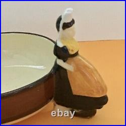6 QUIMPER FIGURAL VTG Bowls Dessert Ice Cream French Faience Pottery Signed Lot6