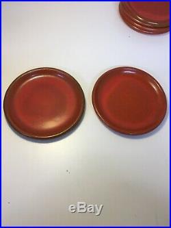 7 Piece Vintage Catalina Pottery, Saucer Plates and Bowl Catalina Island