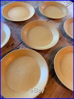 7 Vtg Bennington Potters 1667 Tawny Mustard Lug Bowls Yusuke Aida and David Gil