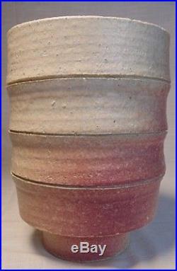 A Vintage Mid-Century Modern Japanese Ikebana Footed Deep Bowl / Vase Marked
