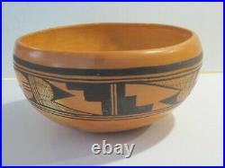 Annette Silas Hopi Tewa Large Vintage Pottery Bowl, Signed