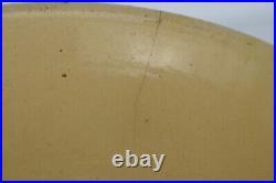 Antique 1880's Large Yellow Ware Stoneware Embossed Philadelphia Pottery Mixing