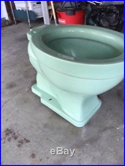 Antique CRANE Pale Jade Toilet Bowl (ONLY) Vintage
