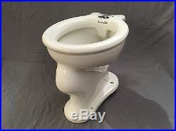 Antique Ceramic Trenton Vitreous China Toilet Bowl Decorative Eagle Vtg 575-17E