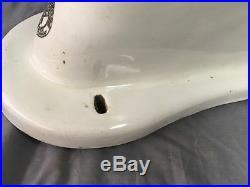 Antique Ceramic Trenton Vitreous China Toilet Bowl Decorative Eagle Vtg 743-17E