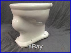 Antique Ceramic White Porcelain Vitreous China Toilet Bowl Vtg Plumbing 744-17E