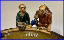 Antique Japanese Pottery Sumida Gawa Bowl circa 1900