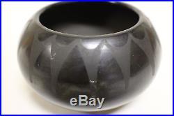 Antique Marie and Julian VIntage Pueblo Black Pottery Bowl SIGNED