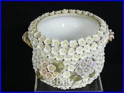 Antique Meissen-style German Schneeballen Floral Footed Bowl