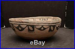 Antique Native American Indian Pueblo Pottery Bowl Santo Domingo VTG polichrome
