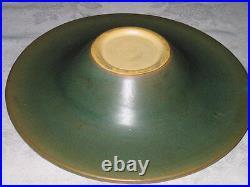 Antique Roseville Jonquil Garden Flower Art Pottery Bowl N' Frog Vase Planter