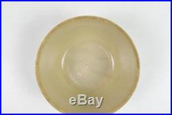 Antique Ruckels Stoneware White Hall Illinois Icicle Pottery Bowl Dish Vtg 10.5
