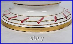 Antique Vintage Chelsea House Port Royal Compote Bowl with Handles Flowers Italy