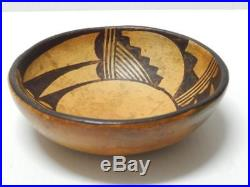 Antique Vintage Hopi Indian Pottery Bowl Nice Very Old Patina Nr