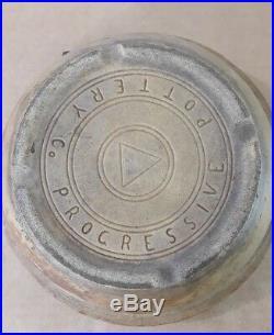 Antique Vintage Progressive Pottery Co. Bowl with Wooden Handle