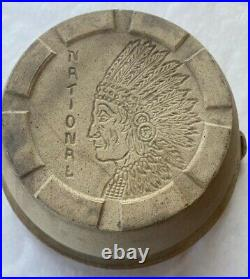 Antique Vintage RARE Stoneware Bowl with Indian Chief National Pottery Company