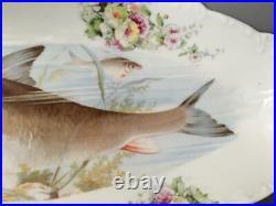 Antique Vtg Austria Carlsbad Lrg Huge Fish Serving Platter Bowl Long Tray Dish