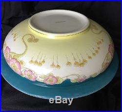 Art Nouveau Antique Water Pitcher Set Large Jug Vase Bowl Arts & Crafts Deco Vtg
