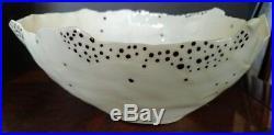 Art Pottery White Vintage Original Studio & Handcrafted Pieces Three Bowl Set