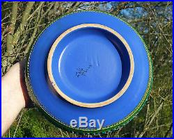 BITOSSI blue bowl aldo londi vtg italian pottery mid century modern table art