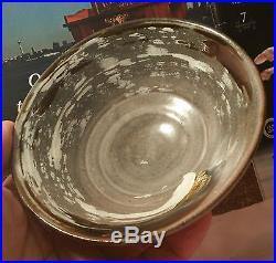 BRITISH mid-century modern studio pottery japanese rice bowl vtg swirl table art