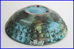 Bagni Raymor Vtg Mid Century Modern Green Sea Garden Pottery Bowl Italy Bitossi