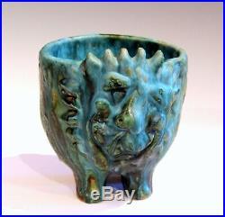 Bagni Sea Garden Lion Italian Pottery Raymor Vintage Bowl Jardiniere Figure