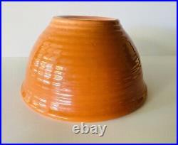 Bauer Pottery Bowl #12 Ringware Orange Vintage