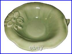 Beautiful 1946 Rookwood Arts & Crafts pottery bowl vintage green glaze