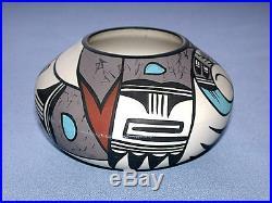 Beautiful Vintage Hopi Bird Arizona Desert Pueblo Pottery Bowl / Vase