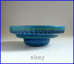 Bitossi Pottery Italy Vintage Rimini Blue Large 10.5 BOWL. Aldo Londi 1960's
