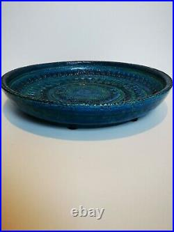 Bitossi rimini blu Aldo Londi XL Charger Fruit Bowl 14 36cm mid century vintage
