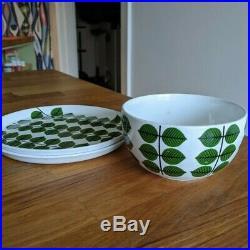 Bowl + Pair of Gustavsberg Sweden BERSA Stig Lindberg Vintage Plates 7