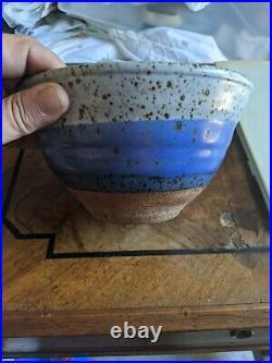 Byron Temple Studio Pottery Stoneware Bowl Vintage Mid Century